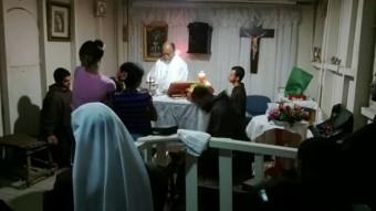misa  nochebuena con Fray Jose en el Caliche